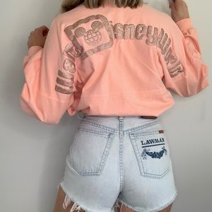 Walt Disney World Rose Gold Glitter Spirit Jersey